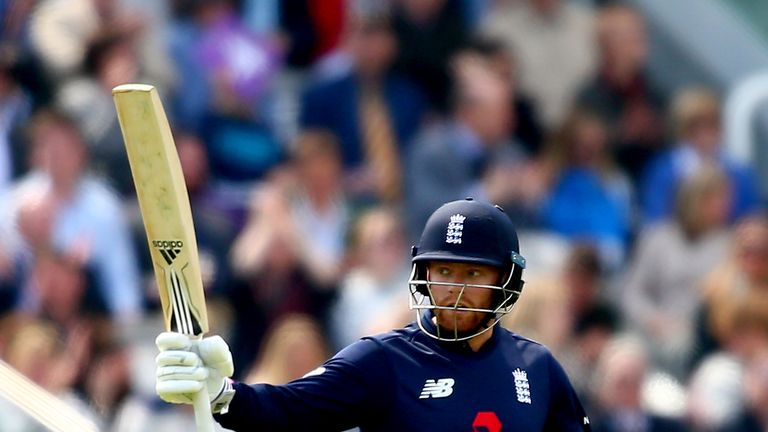Jonny Bairstow of England celebrates his 50 during the Royal London ODI match between England and Ireland at Lord's