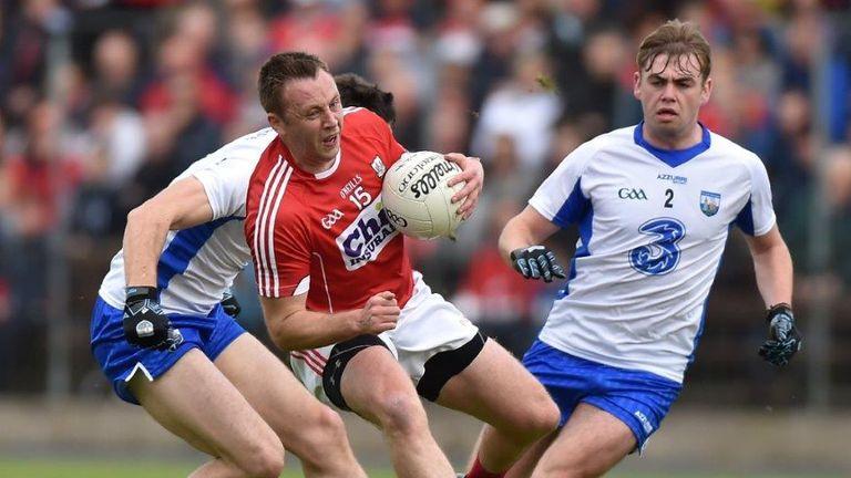 Cork's Paul Kerrigan evades a tackle