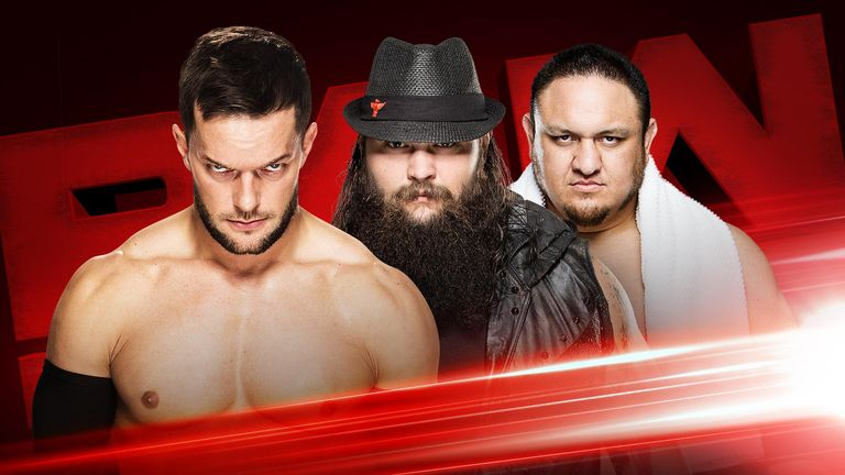Finn Balor, Bray Wyatt and Samoa Joe will face each other in a triple threat match just six days before Extreme Rules.