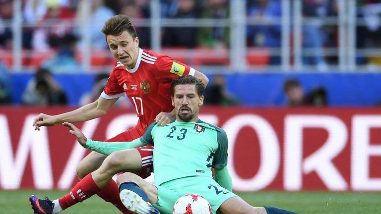 Adrien Silva featured for Portugal at the Confederations Cup in Russia