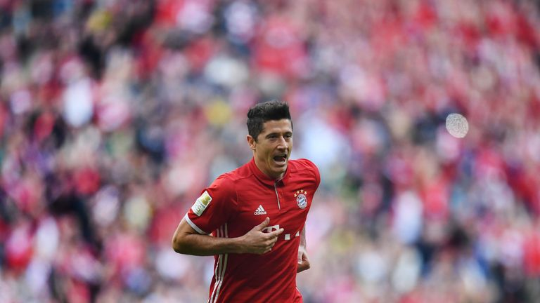 Lewandowski joined Bayern Munich in 2014