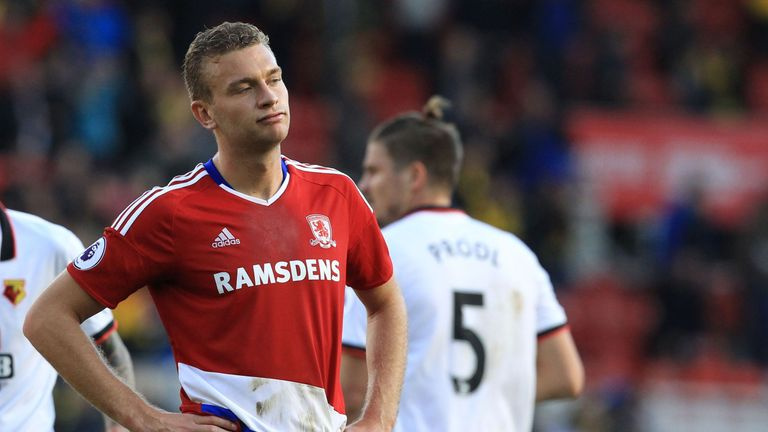 West Brom have two Ben Gibson bids rejected by Middlesbrough