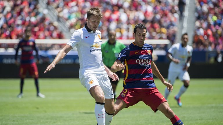 Manchester United met Barcelona in California in 2015
