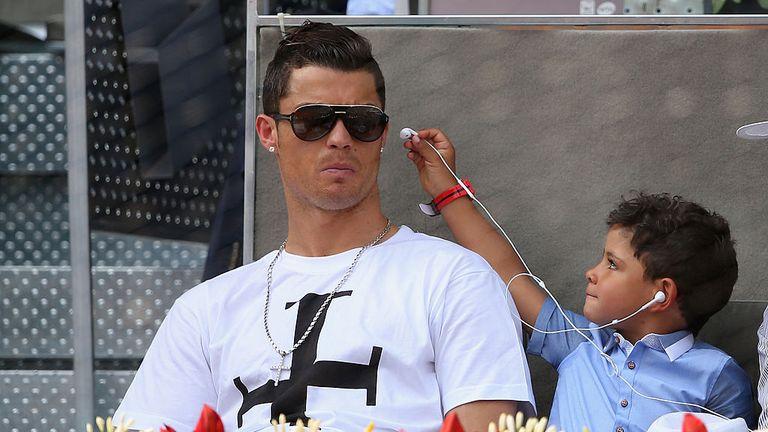 Ronaldo and son Cristiano Ronaldo Junior