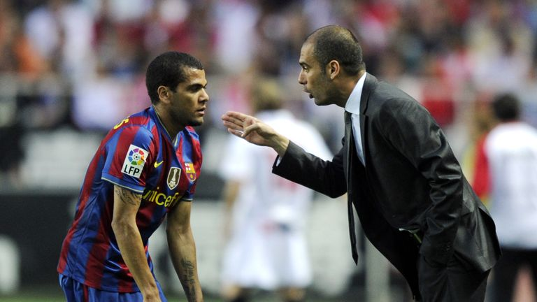 Alves worked with Pep Guardiola during their time together at Barcelona