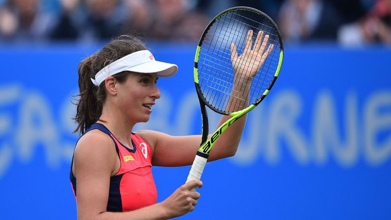 Johanna Konta withdraws from Eastbourne tennis semis due to injury
