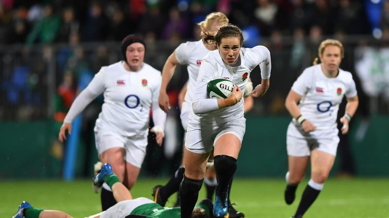 Emily Scarratt will win her 70th England cap in their Rugby World Cup opener