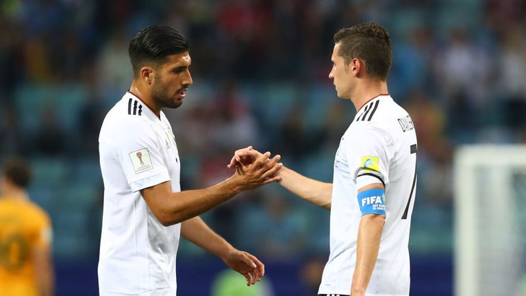 Emre Can and Julian Draxler featured for Germany in the opening 3-2 win