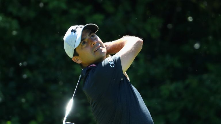 Felipe Aguilar struggled to a 75 on Sunday and finished in a tie for 10th