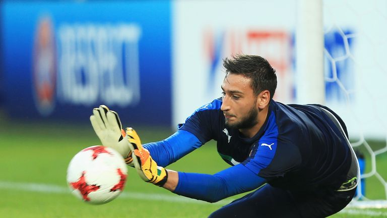 Donnarumma played for Italy at the U21 European Championships this summer