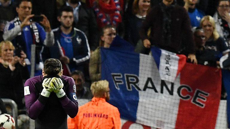 France goalkeeper Lloris made a big error