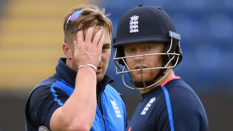 Bairstow (right) replaced Jason Roy for the Champions Trophy semi-final defeat at Cardiff earlier this summer