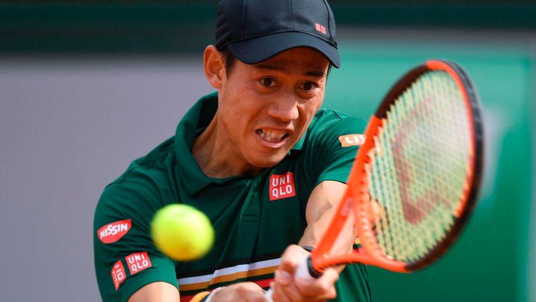 Japan's Kei Nishikori raced ahead at Roland Garros