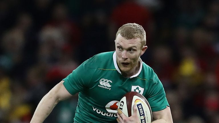 Winger Keith Earls was one of Ireland's stand-out performers, scoring twice and creating many other tries