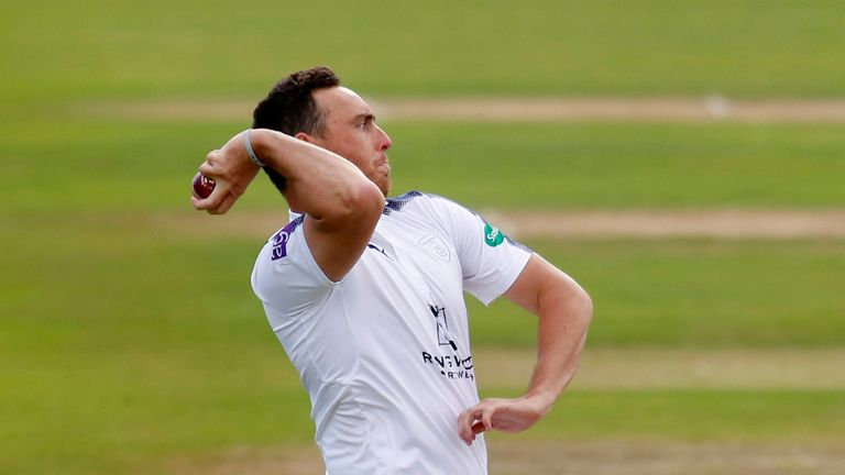 Kyle Abbott starred with bat and bowl during day three for Hampshire