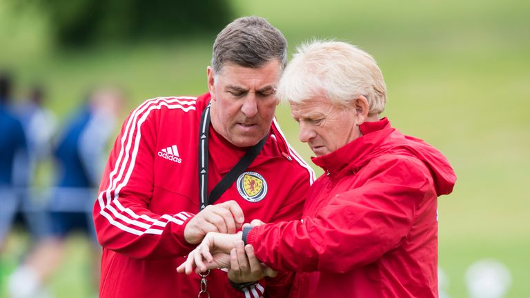 Mark McGhee (left) also departs his role as assistant coach