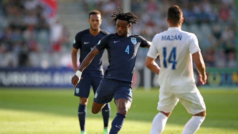 England's Nathaniel Chalobah in action against Slovakia