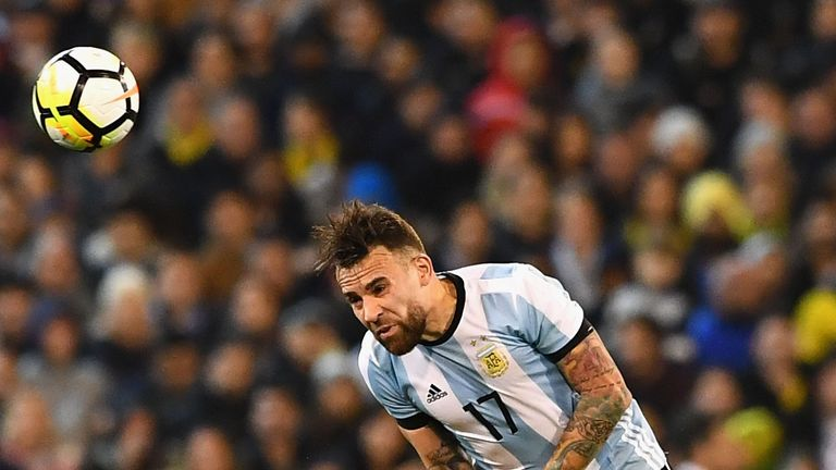 Nicolas Otamendi in action for Argentina