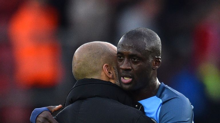 Toure thrived under Pep Guardiola's leadership after a rocky start to the campaign