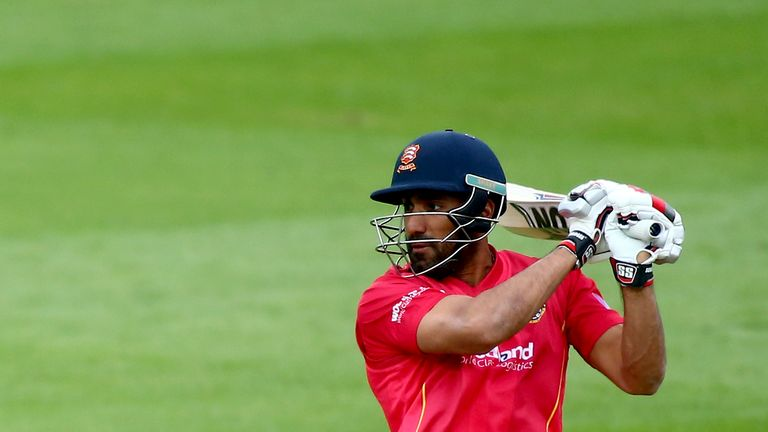 Ravi Bopara ended day one of Essex's game against Warwickshire within sight of a century