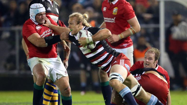 Best in Lions action against the New Zealand Provincial Barbarians