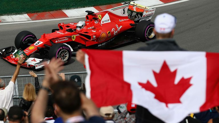 canadian gp practice three ferrari and sebastian vettel set the pace f1 news. Black Bedroom Furniture Sets. Home Design Ideas