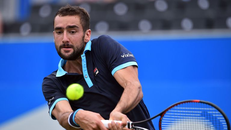 Croatia's Cilic in Queen's club tennis quarters