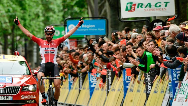 Thomas De Gendt wins 1st stage of Criterium du Dauphine