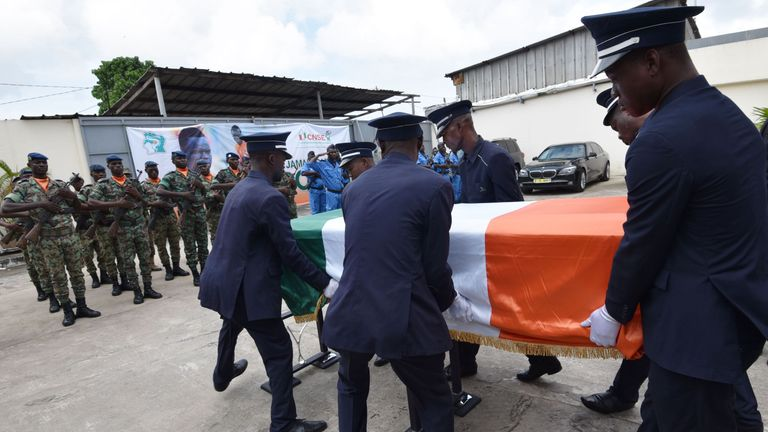Tiote was honoured with a military funeral