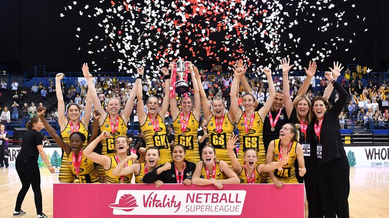 Wasps won the Superleague in their debut season and begin against Surrey Storm in 2018