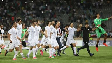 Iran celebrate qualifying for the World Cup