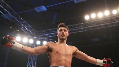 Josh Kelly celebrates his swift victory over Tom Whitfield in Newcastle