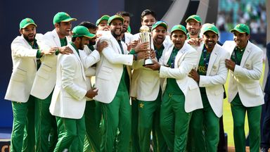 Pakistan lift the ICC Champions Trophy after beating India in the final