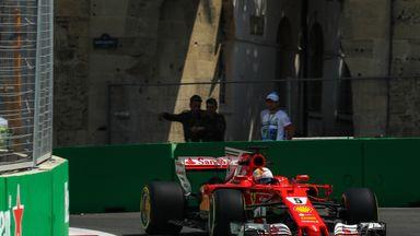 Sebastian Vettel Azerbaijan GP practice