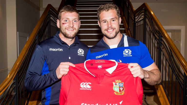 Scotland's Finn Russell (left) and Allan Dell have been drafted in