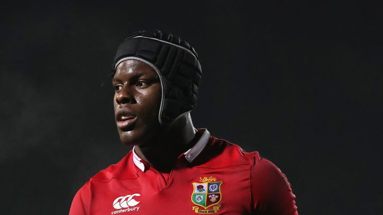 ROTORUA, NEW ZEALAND - JUNE 17:  Maro Itoje of the Lions looks on during the match between the New Zealand Maori and the British & Irish Lions at Rotorua I