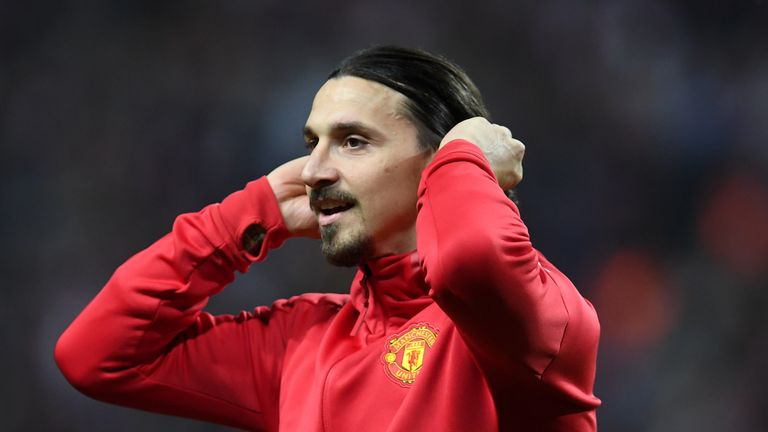 Zlatan Ibrahimovic is fighting hard to overcome his knee injury
