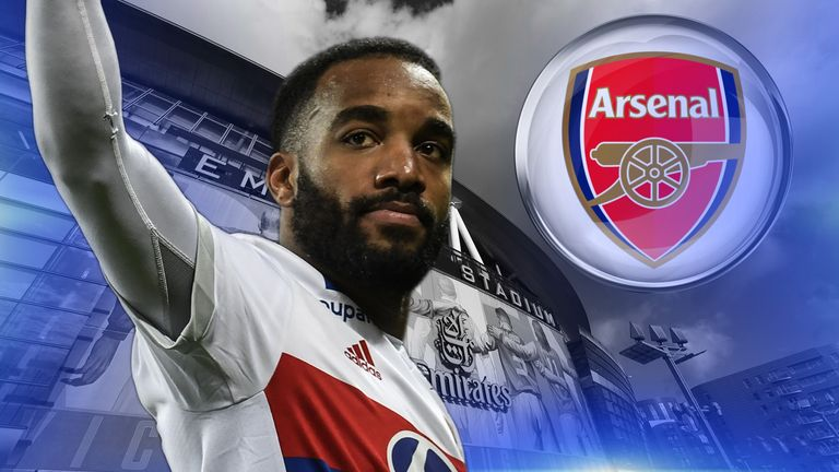 Lyon striker Alexandre Lacazette appears on the verge of a move to Arsenal