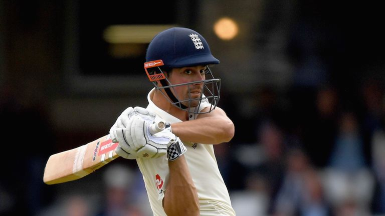 Cook and Ben Stokes (21) shared an unbroken stand of 51 at The Oval