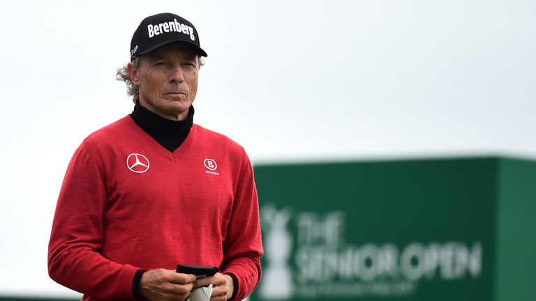Colin Montgomerie slips off the pace as Langer and Lehman lead