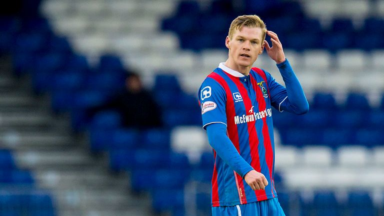 Ross County striker Billy McKay playing for Highland rivals Inverness CT last season