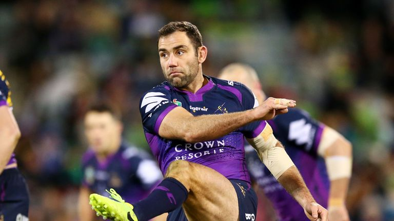Cameron Smith faces a possible spell on the sidelines after picking up a pectoral injury in the Storm's win over the Raiders