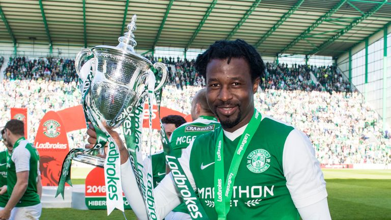 Hibernian's Efe Ambrose is facing manager Neil Lennon's wrath