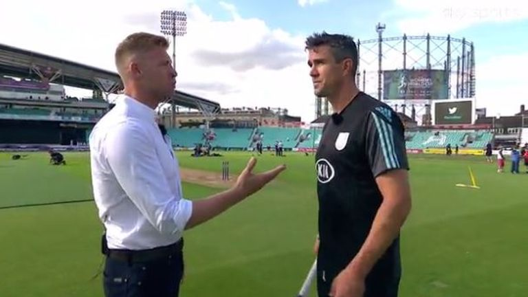 Pietersen (right) has also been working with Sky Sports during the summer