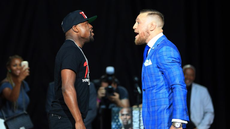 McGregor laughed off Mayweather's press conference taunts