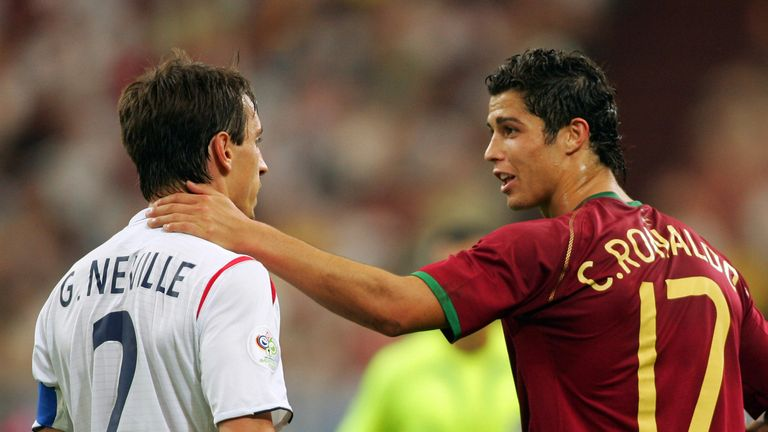 Ronaldo returned a villain after Portugal eliminated England from the 2006 World Cup