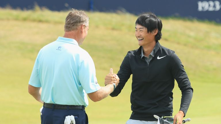 Li Haotong stormed into third place with an outstanding 63