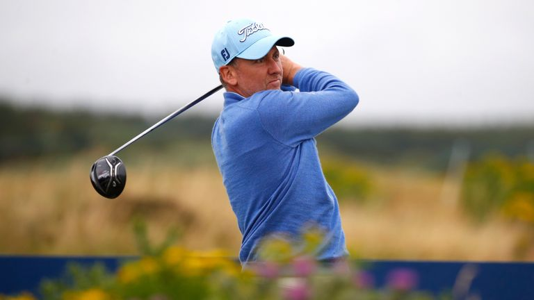 Ian Poulter battles the elements to share Scottish Open lead
