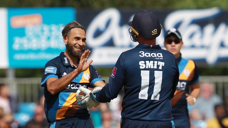 Imran Tahir has been key in Derbyshire's progression to the NatWest T20 Blast quarter-finals