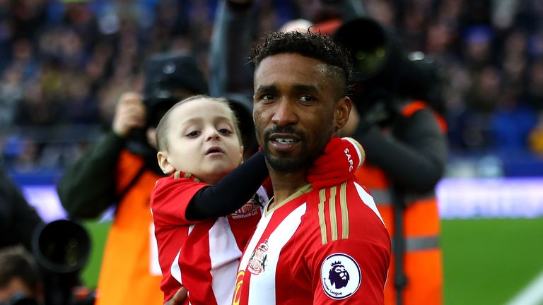 Bournemouth, Premier League, Jermain Defoe, Bradley Lowery, Mascot, Football, Sports,